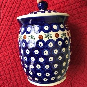 🆕⭐️Boleslawiec Poland pottery coffee jar